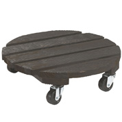 Wooden Pot Stand on Wheels - D.30 cm